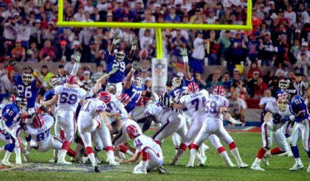 The New York Giants Won Super Bowl XXV By One Point When Scott Norwood's Field Goal Attempt Went Right