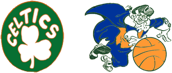 The Boston Celtics and New York Knicks Are the Oldest Team Names in the NBA. These Are The Logos From Their First Season, 1946-47 (BAA).