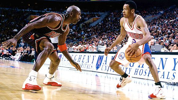 The Best Scorers in NBA Playoff History: Michael Jordan and, a distant second, Allen Iverson (Yes, That's Iverson Pre-Mega Ink)