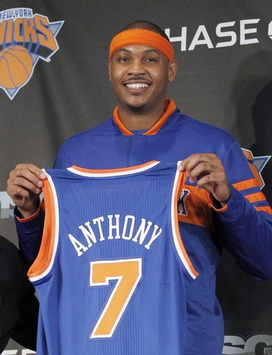 The New York Knicks' Carmelo Anthony Has the Top-Selling NBA Jersey this Season