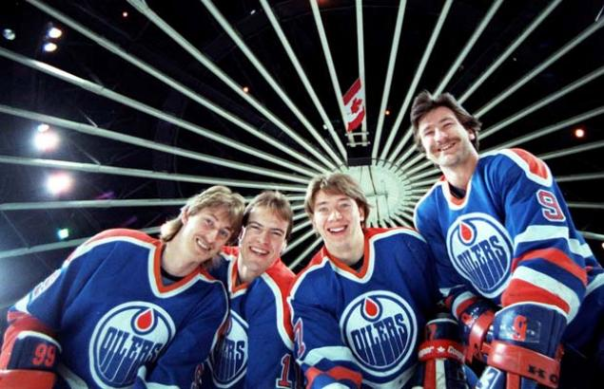 Wayne Gretzky, Mark Messier, Jari Kurri and Glenn Anderson of the Great Edmonton Oiler Teams of the 1980s Are the Only Skaters To Record Over 200 Points in the Postseason