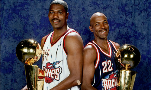 Hakeem Olajuwon, Clyde Drexler and the Houston Rockets Won the 1995 NBA Championship