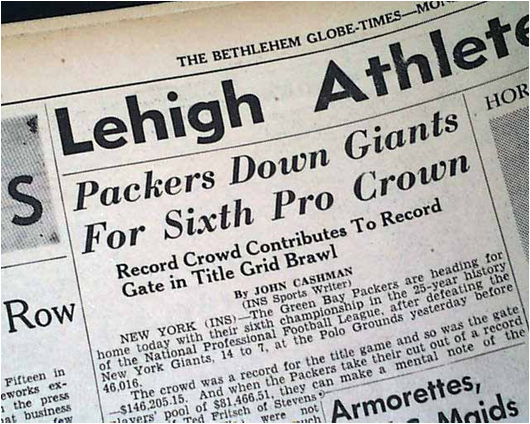 The New York Giants Lost to the Green Bay Packers in the 1944 NFL Championship