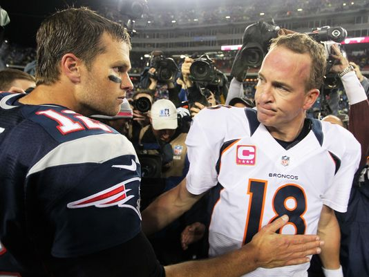 Tom Brady Owns the Head-to-Head with Peyton Manning, Winning Nine of Their 13 Meetings, Including a 2-1 Advantage in the Postseason