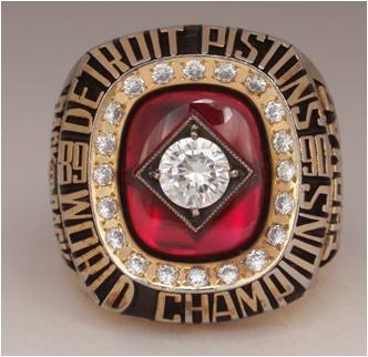 Detroit Pistons 1990 NBA Championship Ring