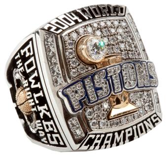 Detroit Pistons 2004 NBA Championship Ring