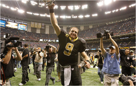 Drew Brees: 54 Straight Games With A Passing Touchdown