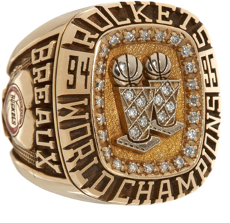 Houston Rockets 1995 NBA Championship Ring