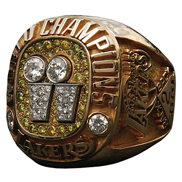Los Angeles Lakers 2001 NBA Championship Ring