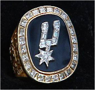 San Antonio Spurs 1999 NBA Championship Ring