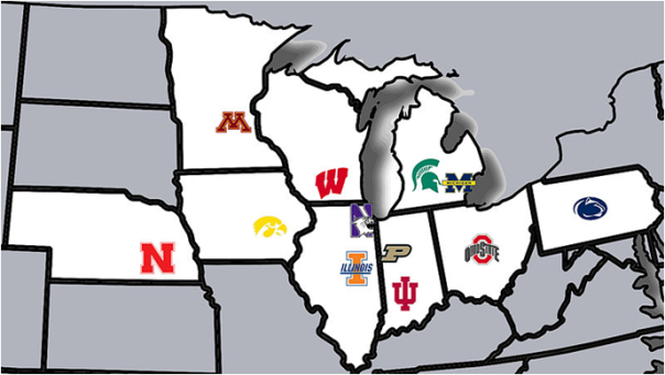 The 12 Schools Of The Big Ten Today