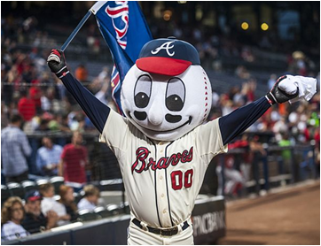 Atlanta Braves Mascot Homer The Brave