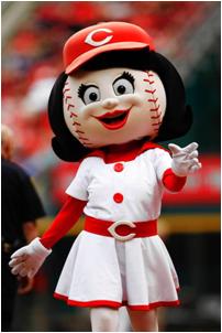 Cincinnati Reds Mascot Rosie Red