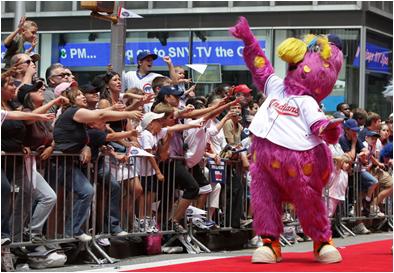 Cleveland Indians Mascot Slider
