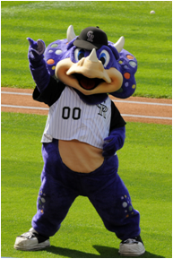 Colorado Rockies Mascot Dinger
