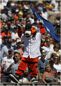 Detroit Tigers Mascot Paws