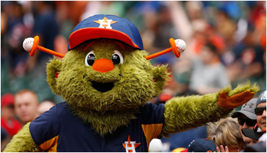 Houston Astros Mascot Orbit