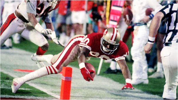 Jerry Rice Had Six Receiving Touchdowns In The 1988 Postseason, Including This One In The Super Bowl