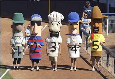 Milwaukee Brewers Mascot The Sausages