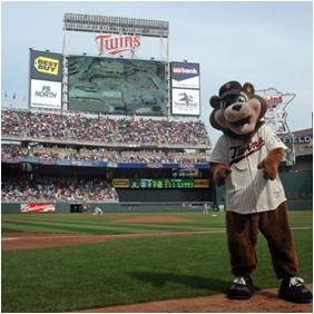 Minnesota Twins Mascot T.C. Bear
