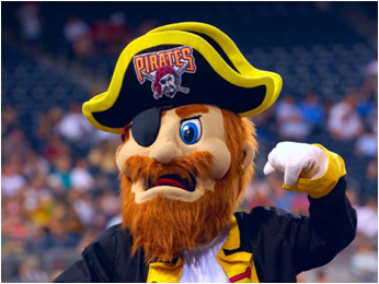 Pittsburgh Pirates Mascot Captain Jolly Roger