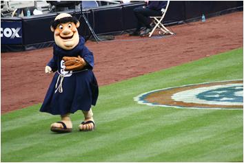 San Diego Padres Mascot Swinging Friar