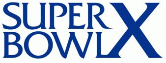 Super Bowl X Logo