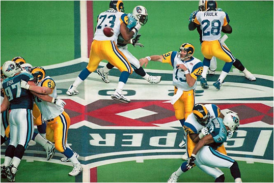 The Most Accurate Quarterback In Playoff History Lets It Rip In Super Bowl XXXIV