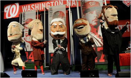 Washington Nationals Mascot The Presidents