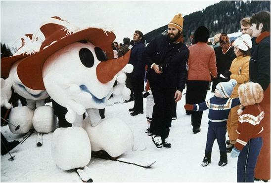 1976 Innsbruck Winter Olympics Mascot Schneemann