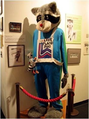 1980 Lake Placid Winter Olympics Mascot Roni Raccoon