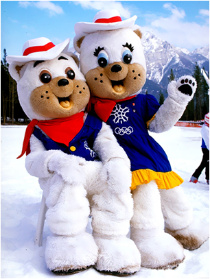 1988 Calgary Winter Olympics Mascots Howdy and Hidy