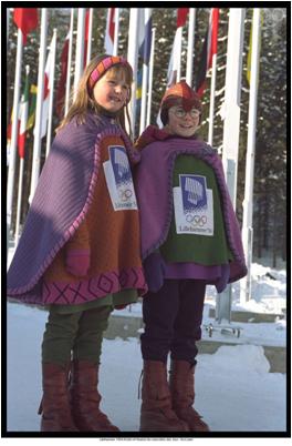 1994 Lillehammer Winter Olympics Mascots Kristin and Haakon