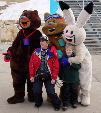 2002 Salt Lake City Winter Olympics Mascots Coal, Copper and Powder