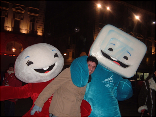 2006 Torino Winter Olympics Mascots Neve and Gliz