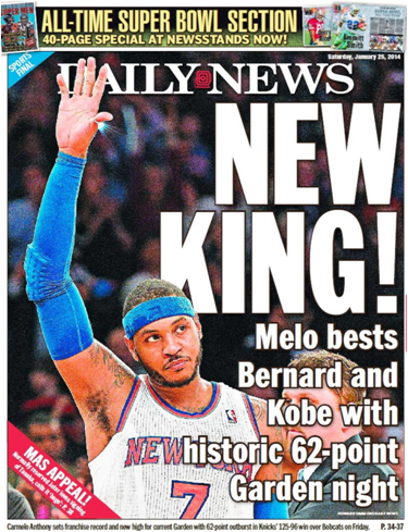 Carmelo Anthony Now Holds The New York Knicks' Record For Most Points Scored In A Game