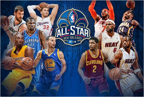 Kevin Durant and LeBron James (center, l. and r.) Will Become The NBA All-Star Game's Leading Scorers In Time