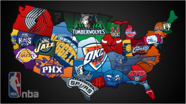 NBA Representin' Across the USA