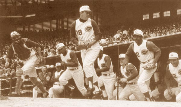 Pete Rose (Third From Right, Next To No. 20 Frank Robinson) In His First Opening Day, 1963