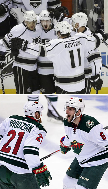 The Los Angeles Kings and Minnesota Wild Advance After Game 7 Wins On The Road In The 2014 Stanley Cup Western Conference Quarter-Finals