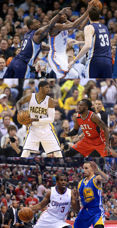 The Oklahoma City Thunder, Memphis Grizzlies, Indiana Pacers, Atlanta Hawks, Los Angeles Clippers And Golden State Warriors Face Game 7's On Saturday