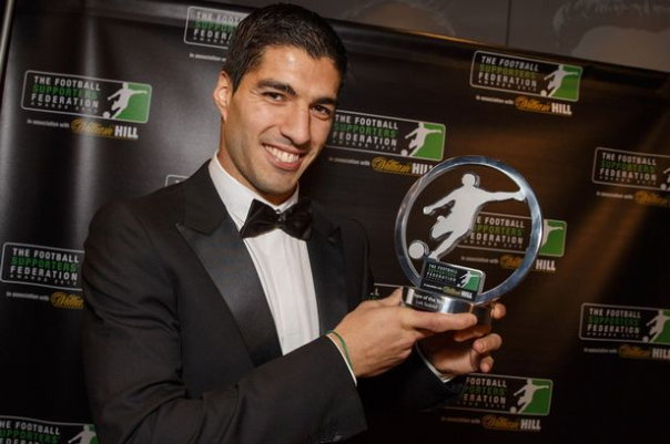 Luis Suarez Is Liverpool's Sixth PFA Player Of The Year