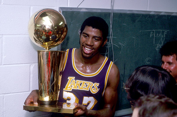 Magic Johnson Won His First NBA Title And First NBA Finals MVP His Rookie Season