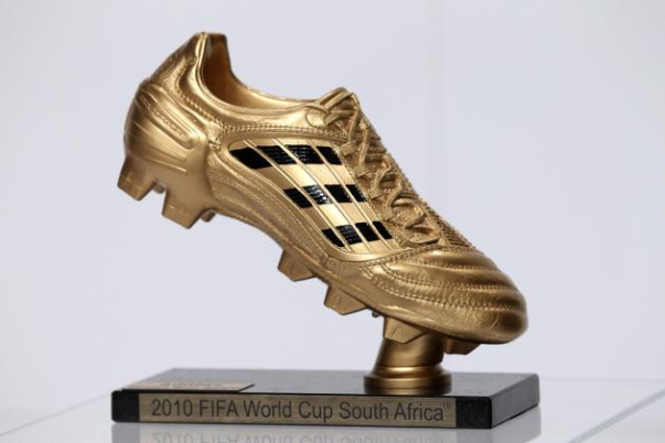 The 2010 FIFA World Cup Golden Boot Awarded At South Africa. Trophies Vary Slightly With Each Tournament.