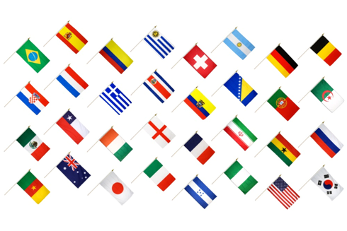 The 32 Countries Of The 2014 FIFA World Cup. Ten Of The Final 16 Are Looking For Their First Finals Appearance.