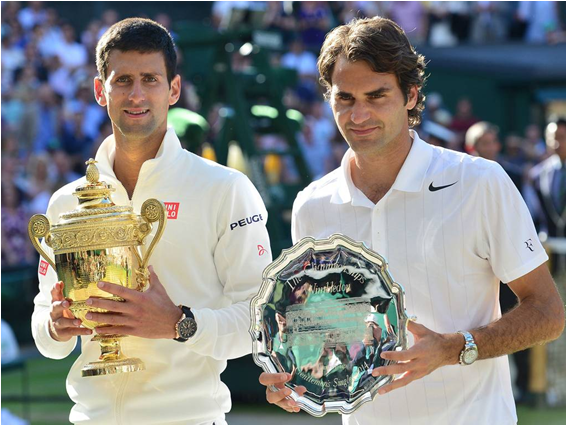 2014 Champion Novak Djokovic and Roger Federer Put On One Of The Closest Wimbledon Finals Ever Today
