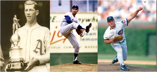 Left-Handers With The Most Wins (Lefty Grove), Strikeouts (Sandy Koufax) And Saves (Randy Myers) In A Single Season