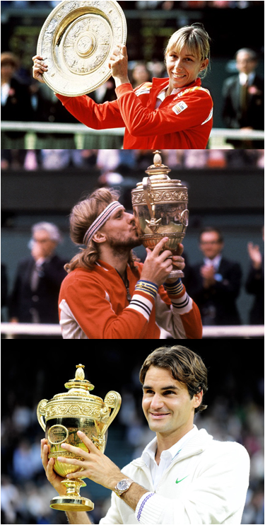 Martina Navratilova Won Six Wimbledon Championships In A Row. Bjorn Borg And Roger Federer Won Five.