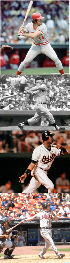 The Four Best Switch Hitters In Baseball History: Pete Rose, Mickey Mantle, Eddie Murray And Chipper Jones
