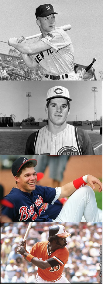 The Mick, Charlie Hustle, Chipper And Steady Eddie, In Their Early Days